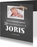Geboortekaartje Joris krijt