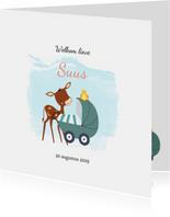 Geboortekaartje kalfje bij kinderwagen