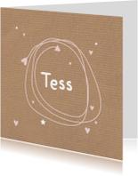 Geboortekaartje kraft Tess