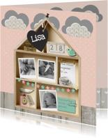 Geboortekaartje Letterbak Huisje
