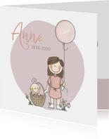Geboortekaartje lief en origineel zusje!