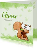 Geboortekaartje lief klein eekhoorntje