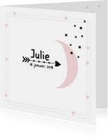 Geboortekaartje Maan Julie