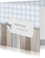 Geboortekaartje Martijn label