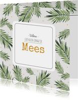 Geboortekaartje Mees - HM