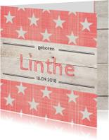 Geboortekaartje meisje Linthe