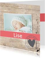 Geboortekaartjes - Geboortekaartje-meisje-Liset-SK