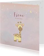 Geboortekaartje meisje met een lief girafje