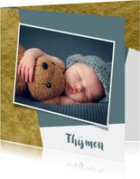 Geboortekaartje met goud achtergrondkleur te veranderen