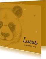 Geboortekaartjes - Geboortekaartje met stoere panda