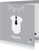 Geboortekaartjes - Geboortekaartje-rompertje-Naylan