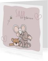Geboortekaartje Saar Knuffels