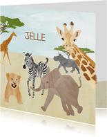 Geboortekaartje safari