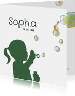 Geboortekaartjes - Geboortekaartje silhouet bellen