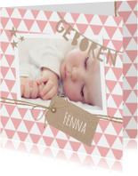 Geboortekaartje Slinger Fenna