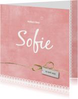 Geboortekaartjes - Geboortekaartje Sofie - SK