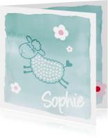 Geboortekaartje Sophie Schaap