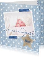 Geboortekaartje Spijkerstof Max