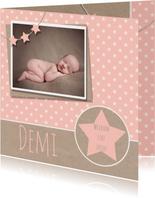 Geboortekaartje ster karton