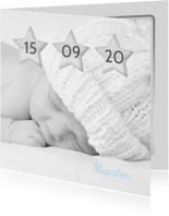 Geboortekaartje sterren datum A