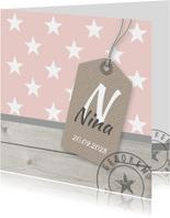 Geboortekaartje sterren Nina