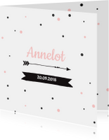 Geboortekaartje stippen Annelot