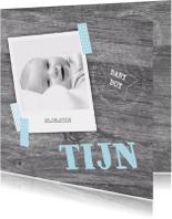 Geboortekaartje stoer foto boy