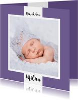 Geboortekaartje tekst en achtergrondkleur aanpasbaar - OT