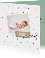 Geboortekaartje Thomas hartjes