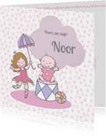 Geboortekaartjes - Geboortekaartje voor een zusje