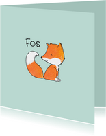 Geboortekaartje getekend vos