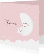 Geboortekaartje zusje maan ster