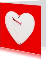 Gebroken hart - op rood