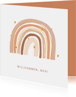 Geburts-Glückwunschkarte Regenbogen