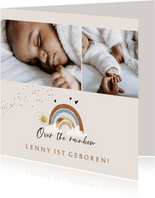 Geburtskarte egiene Fotos & Regenbogen