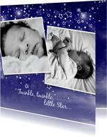Geburtskarte Fotos Sternenhimmel