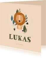 Geburtskarte Kleiner Löwe Foto innen