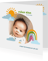 """Geburtskarte mit Foto """"Unser Sonnenschein"""""""
