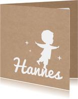 Geburtskarte Silhouette Kraftpapier Junge