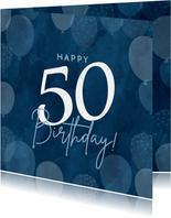 Geburtstags-Glückwunschkarte blaue Luftballons