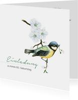 Geburtstagseinladung Frühlingsbote Vogel