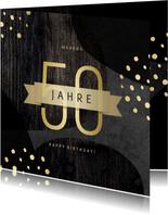 Geburtstagskarte 50 Jahre Gold
