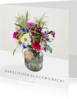 Geburtstagskarte bunter Blumenstrauß