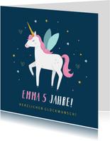 Geburtstagskarte Einhorn & Sternchen