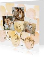 Geburtstagskarte Fotocollage und Herz