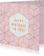 Geburtstagskarte geometrisch rosa