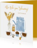 Geburtstagskarte Gutschein High Tea