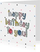 Geburtstagskarte Happy Birthday bunt