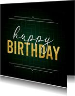 Geburtstagskarte 'Happy Birthday' grafisch