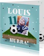 Geburtstagskarte Junge Fußball mit Foto